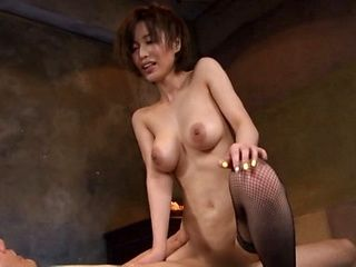 Milf with shaved pussy Kimijima Mio gives a crazy cock ride