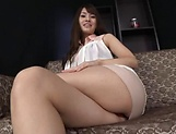 Luscious amateur in steamy masturbation action