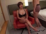 Japanese fuck doll got fresh cum on tits