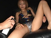 Horny dude gets his boner pleasured by big tits Asian babe
