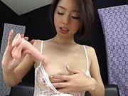 Gorgeous milf masturbates solo in kinky lingerie