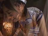 Cute Asian babe Ayaka Yamada in raunchy hand-job scene