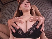 Busty Sumire Mika throats the cock until the last drop