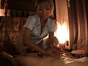 Awesome erotic massage from sexy vixen Aika