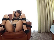 Babe in hot lingerie, insane sex play and orgasms on cam