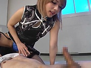Mari Rika ,gets a messy cum on tits