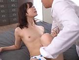 Naughty Hinata Saeka gets her muff fingered while in a bikini