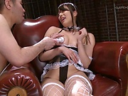 Yume Kana looks stunning in fishnet stockings