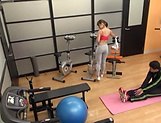 Sporty Japanese girl fucks with her sex instructor picture 14