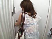Aoyama Hana is wearing sexy stockings