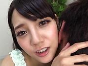 Nice Tokyo girl Mitsuna Rei sucks a dick and bounces on it hard