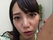 Nice Tokyo girl Mitsuna Rei sucks a dick and bounces on it hard