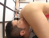 Cute Asian Mizuho Uehara  gives a steamy blow job indoors