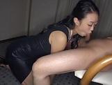 Remi Morioka giving an impressive blowjob