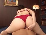 Takamiya Yui amazing lingerie oral display on cock