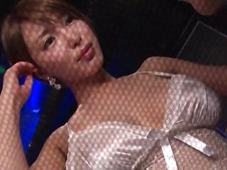 Busty Japanese fuck doll is having sex