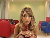 Sleazy babe Aika pleasing several cocks picture 2