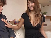 Sweet love Wakana Nao teases while in sexy blue lingerie