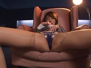 Even stiff office lady likes to have fun
