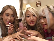Hot Japanese group sex along insolent teens