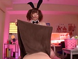 Kawakita Haruna makes a hunk dude cum on her picture 12