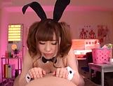 Kawakita Haruna makes a hunk dude cum on her
