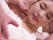 Shirakawa Rina has her shaved  pussy pleasured