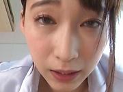 Sensual Hasumi Kurea in perfect POV porn play