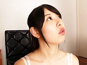 Sultry amateur Aoi Rena excels in sucking dick