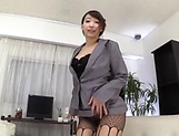 Sexy honey delights pussy with thick dildo picture 13
