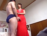 Shinoda Ayumi, performs a sloppy tit fuck picture 5