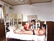 Shinoda Ayumi, handles a dick doggy -style