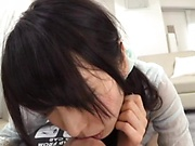 Cum loving Japanese chick sucks a dick in pov and swallows sperm