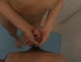 Amateur Asian hottie  Mizuho Uehara gives a steamy blowjob picture 14