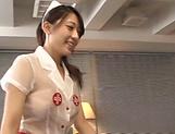 Beautiful Asian nurse Ria Kashii gets rammed hard