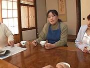 Fujii Arisa likes it doggy after riding dick