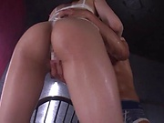 Racy fuck doll is having fun with fans