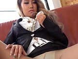 Mirano enjoys a cute masturbation scene picture 13