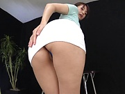 Ooba Yui, showcases her superb nice ass