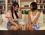 Erotic lesbian action involving curvaceous Akane Aoi