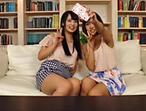 Erotic lesbian action involving curvaceous Akane Aoi picture 13