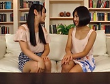 Erotic lesbian action involving curvaceous Akane Aoi picture 14