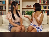 Erotic lesbian action involving curvaceous Akane Aoi picture 15