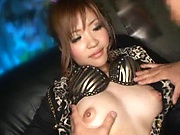 Asian doll gets to enjoy cum on her face