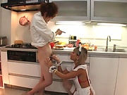 Lustful blowie action by seductive maid