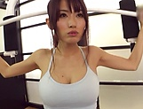 Steaming hot amateur girl from Japan fucks with sport instuctor picture 13
