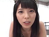 Uehara Ai turns on a dude with a raunchy kissing