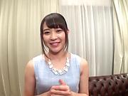 Tezuka Akari rewarded with a sensual fingering