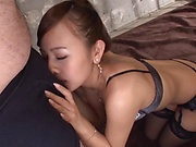 Japanese woman likes to pamper guys