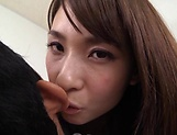 Ooba Yui, excels in her blowjob giving skills
